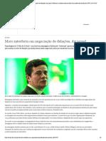 Moro interferiu em negociação de delações, diz jornal _ Notícias e análises sobre os fatos mais relevantes do Brasil _ DW _ 18.07.2019