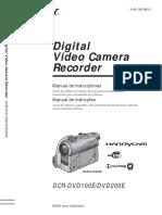 Manual Sony DCR-DVD-100