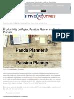 Passion Planner vs. Panda Planner