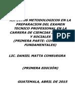 Aspectos Metodologicos en La Preparacion Del Examen Privad