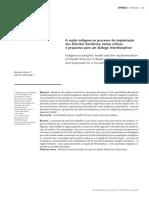 A saúde indígena no processo de implantação dos Distritos Sanitários - temas críticos e propostas para um diálogo interdisciplinar.pdf