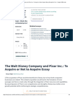 The Walt Disney Company and Pixar Inc._ To Acquire or Not to Acquire Essay Example for Free - Sample 1590 words.pdf