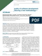 Mejora de La Calidad Del Proceso de Desarrollo de Software Mediante La Introducción de Una Nueva Metodología-modelo AZ