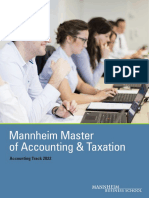 Mannheim Master of Accounting Taxation AccountingTrack 2022