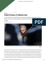 Itzhak Perlman, El Violinista Total _ Babelia _ EL PAÍS