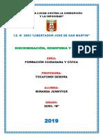 Monografia Discriminación - Xenonofobia y Racismo
