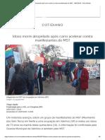 Idoso Morre Atropelado Após Carro Acelerar Contra Manifestantes Do MST - 18-07-2019 - UOL Notícias