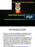Gestion Educativa en El Peru
