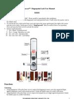 Fingerprint Door Lock Manual e6092