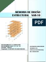 Memoria con la norma NSR 10