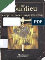 Bourdieu,Pierre Campodepoder,Campointelectual