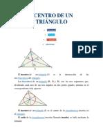 centro de Un Triángulo
