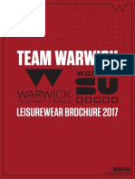 Team Warwick Leisure Brochure