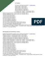 Programação Filosofia IV Química