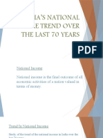 INDIA'S NATIONAL INCOME TREND OVER THE LAST 70.pptx