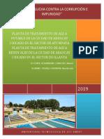 3. y 4.Planta de Tratamiento de Agua Potable de La Ciudad de Abancay Ubicado en El Sector de Atumpata y Planta de Tratamiento de Aguas Residuales de La Ciudad de Abancay Ubicado en El Sector de Illanya