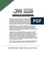 CNN Feb 2015 - ToPLINE & CROSSTABS - Rel2g.measles.and.Vaccines