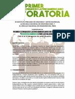 Convocatoria Al Conlatoria Perú 2019