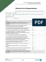 Lista de Comprobación de Requisitos