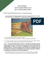 TALLER N° 2 DE HISTORIA GRADO NOVENO 3 PERIODO