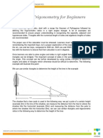 Maths 10-1 a Guide to Trigonometry for Beginners