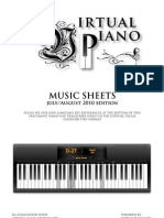 Music Sheets July and August Edition
