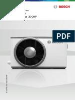 Manual de Instalaçãoo e Uso Bosch Compress 3000p Cs3000p