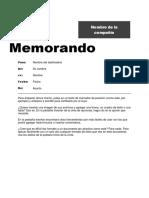 Formato Memorando de Empresa