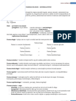 farmacologie generalitati