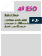 4º ESO, Topic 2.- Political and Social changes in 19th century in Spain and Europe