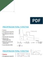 precipitacion total y efectiva - hidrologia