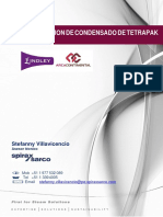 Sustento de Recuperacion de Condensado Tetrapak