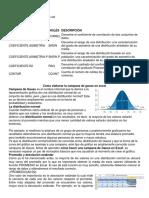 Formulas Para Proceso Estadistica en Excel