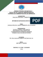 Legislacion en El Marco Ambiental Del Ecuador
