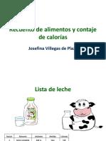 alimentos y calorías