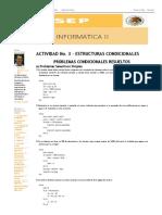 Ejercicios Resueltos y Propuestos de Condicionales