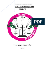 PLAN DE GESTION 2019 LISTA N°2