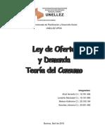 Ley Oferta y Demanda y Teoría del Consumo