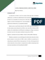 PERSPECTIVA DE LA MEJORA DE EDUCACIÓN EN EL PERU