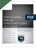 Tipos de cargas para las estructuras y como calcularlas
