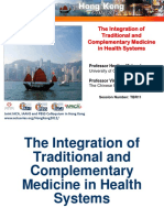 The Integration of Traditional and Complementary Medicine in Health Systems