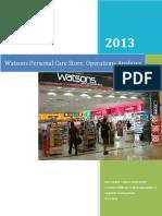 Operations Analyses;Watsons