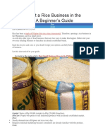 How to Start a Rice Business in the Philippines