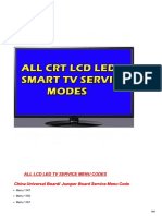 All Led Tv Service Modes
