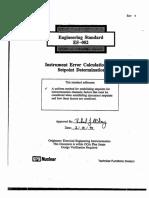 E002 for Instrument Acceptance Standards