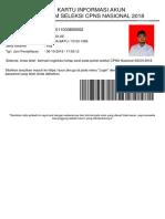 Kartu Infomasi Akun Cpns