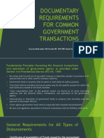 Documentary Requirements for Common Government Transactions