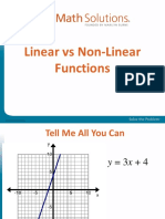 Linear Funstions vs Non- Linear Functions