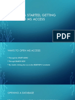 Getting Started, Getting Around MS Access
