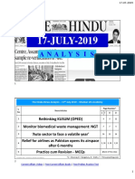 The Hindu 17-Jul, 2019 -Prelims, Mains, Q &A ,Analysied by Shankar IAS Academy